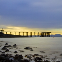 Aberdour pier at sunrise