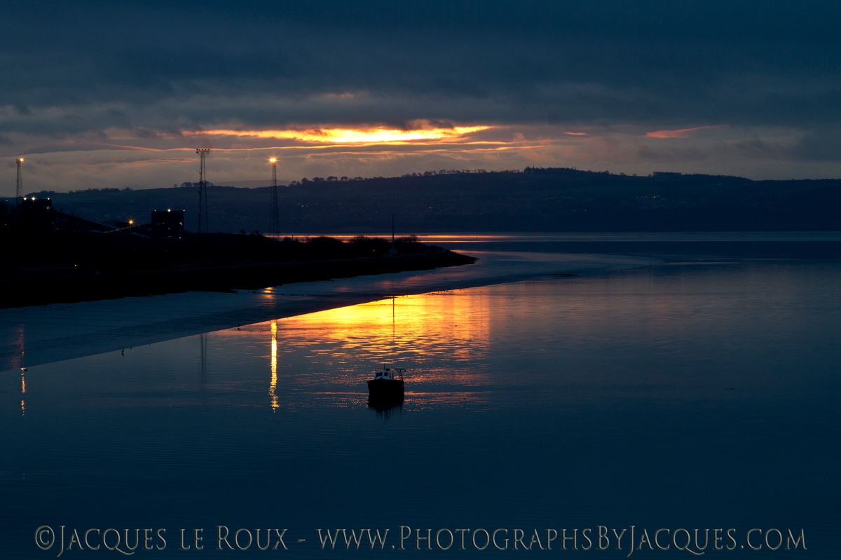 View from Kincardine bridge at sunrise